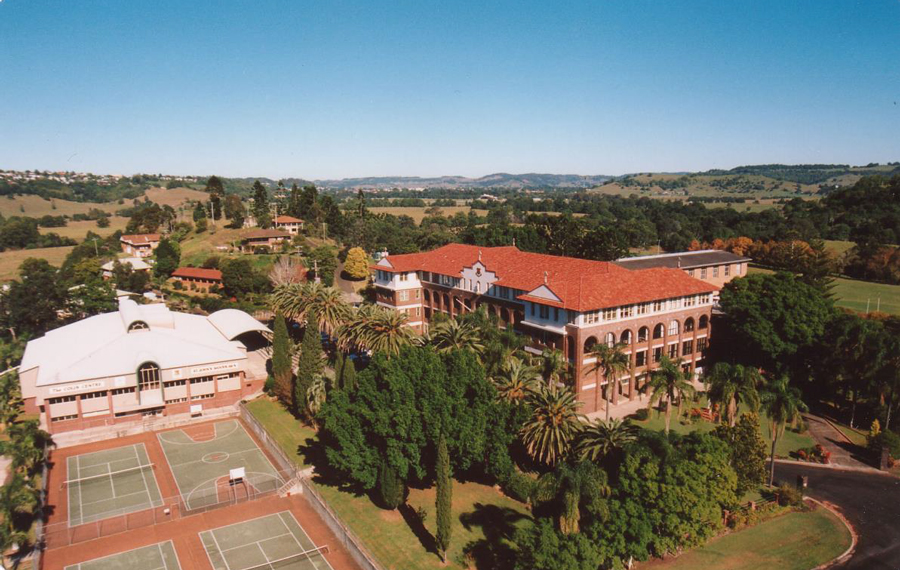 ariel view of the college